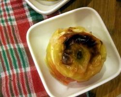 Jabłka pieczone z masłem orzechowym