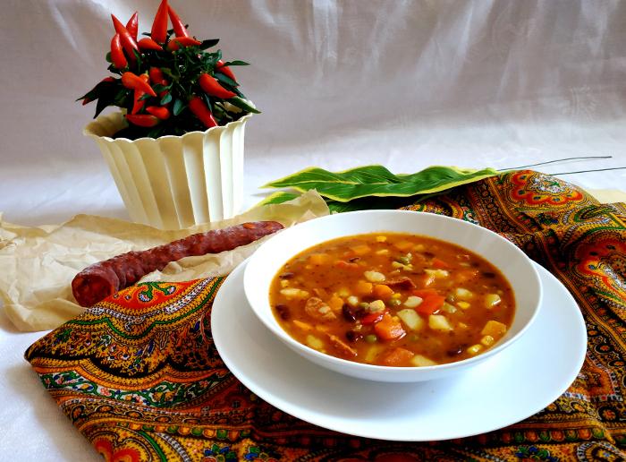 Zupa meksykańska z ziemniakami